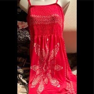 Hot pink/White maxi dress